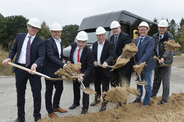 UPS breaks ground on new German package sorting and delivery centre